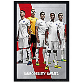 England Black Wooden Framed Immortality Awaits Poster