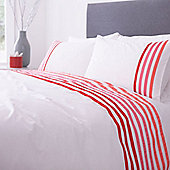 Lourdes Stripe Pink Superking Duvet Set