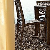 Varaschin Altea Dining Chair by Varaschin R and D (Set of 2) - Dark Brown - Panama Castoro