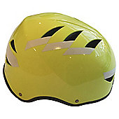 Hardnutz Hi Vis Reflective Yellow Bike Helmet, Medium