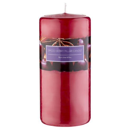 Tesco Spiced Berry Pillar Candle