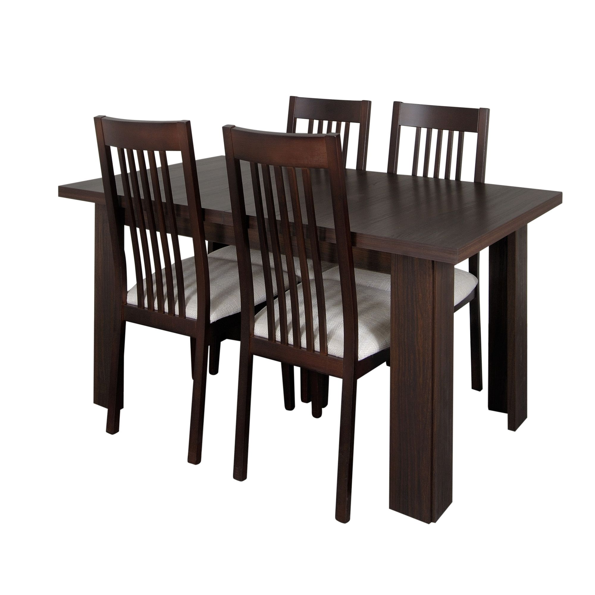 Other Caxton Royale 4 Leg Extending 4 Chair Dining Set in Dark Oak