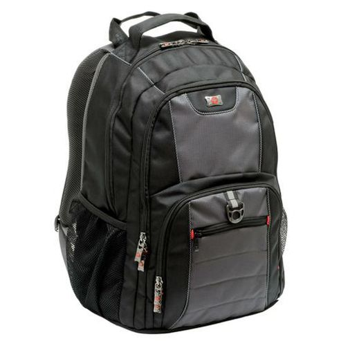 Wenger SwissGear Pillar Backpack (Grey/Black) for 16 inch Notebooks
