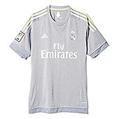 adidas Real Madrid 2015/16 Away Replica Jersey Shirt Grey - Grey