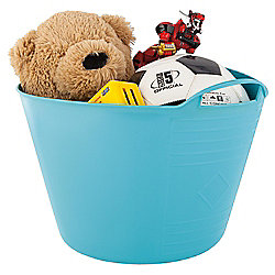 15L Plastic Flexi Tub with Handles - Light Blue