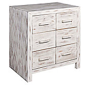Home Essence Portobello 6 Drawer Chest - Small (80 cm H x 70 cm W x 45 cm D)