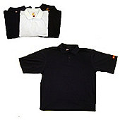 Palm Springs Performance Solid Golf Shirts Navy S