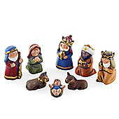 Eight Piece Traditional Design Christmas Nativity Set
