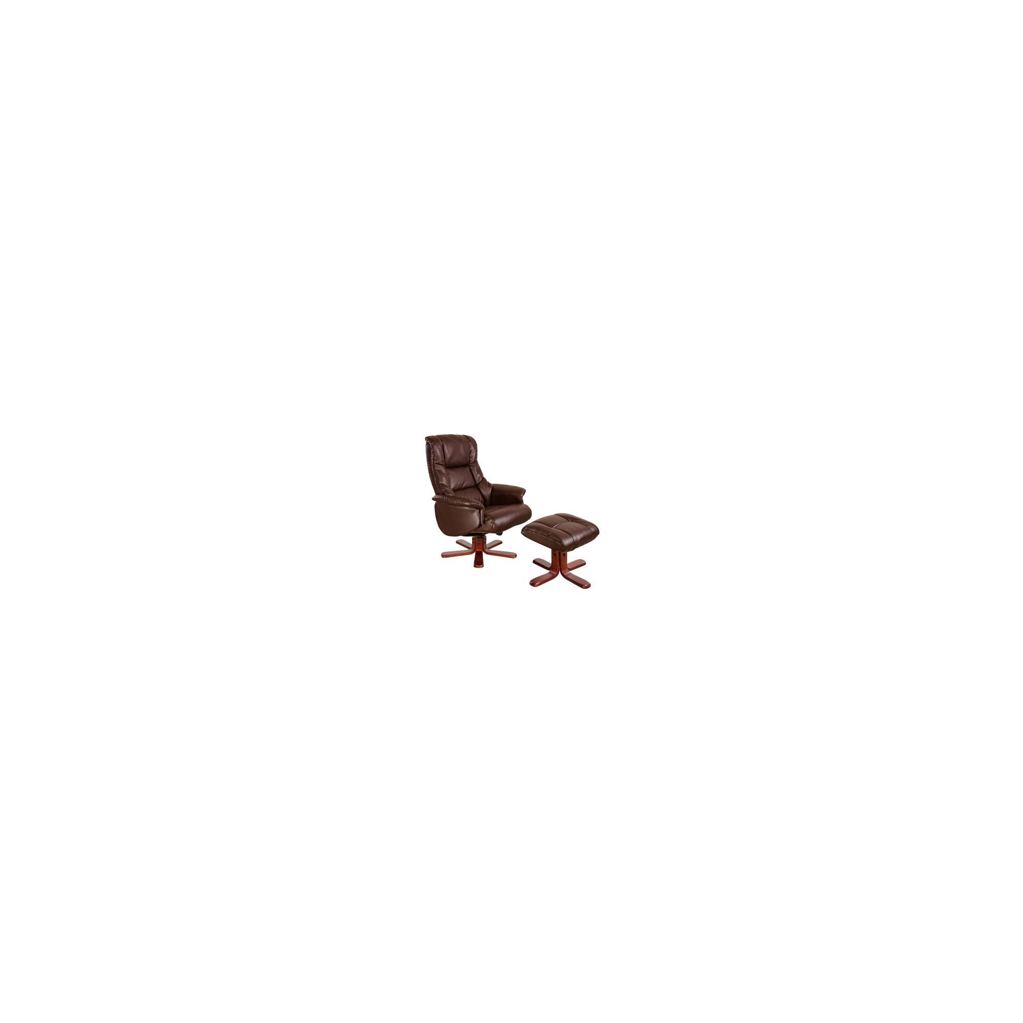 Modal Chicago Luxury Recliner in Nut Brown at Tescos Direct