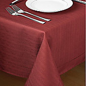 Country Club Hem Stitch Tablecloth in Red