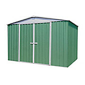 Absco 3m x 3.66m Pale Eucalyptus Colour Metal Shed