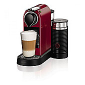 Krups XN760540 Milk Coffee Machine with Milk Frother and 1870W Power in Cherry Red
