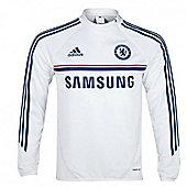 2013-14 Chelsea Adidas Training Top (White) - White