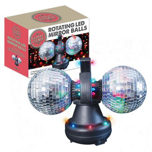 Tesco Novelty Lighting : Buy Twin Rotating LED Mirror Disco Balls from our Novelty Lighting range - Tesco