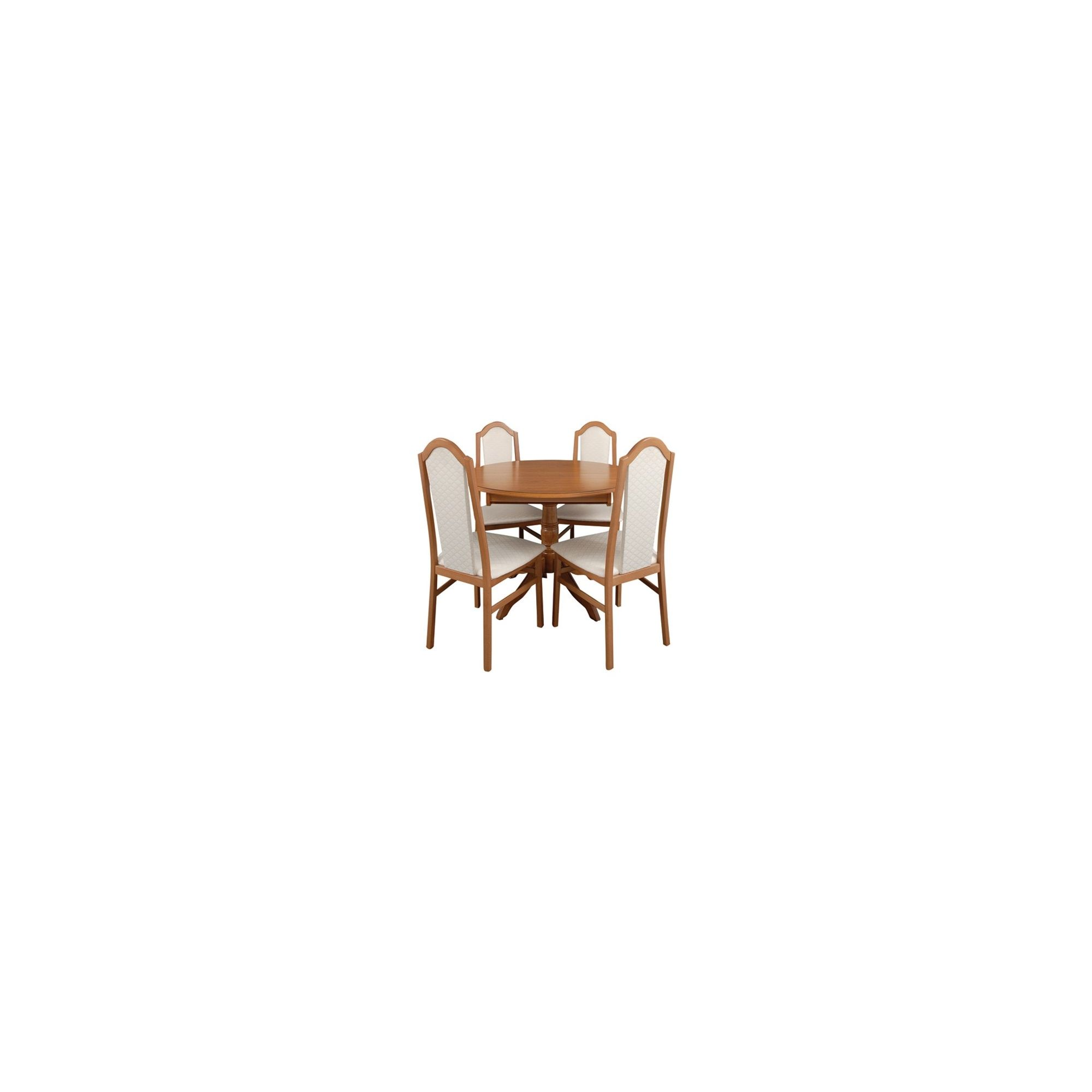 Caxton Lichfield Single Pedestal 4 Chair Dining Set at Tesco Direct