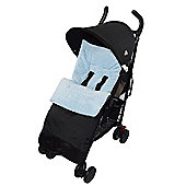 Marshmallow Super Soft Footmuff To Fit Silver Cross Cosy Toes Pushchair - Blue