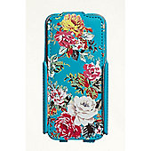 iPhone 5 Flip Case Blue Roses