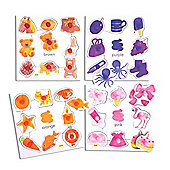 Bigjigs Toys BJ087 Colours Set 2 Pegged Puzzles (Set of 4)