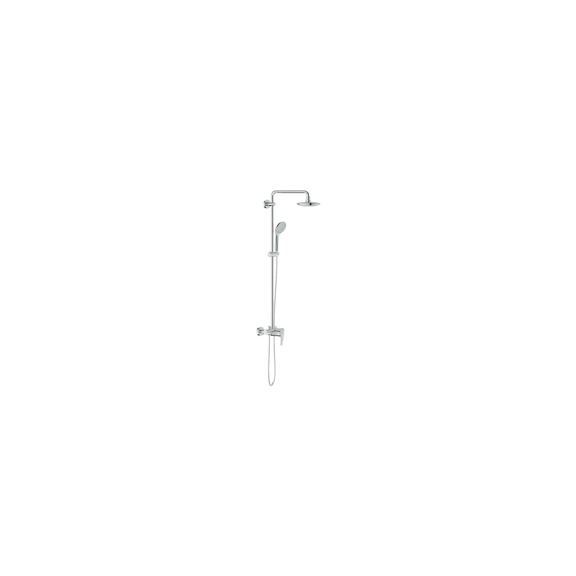 Grohe Euphoria 27473000 Exposed Shower and Diverter, Fixed Head, Handset, Chrome at Tesco Direct