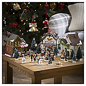 Tesco 24 Piece Christmas Village Starter Kit
