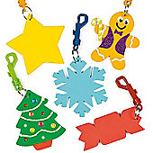 Christmas Foam Keyring Blank for Children (6 Pcs)