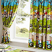 Farmyard Animal Curtains 54s