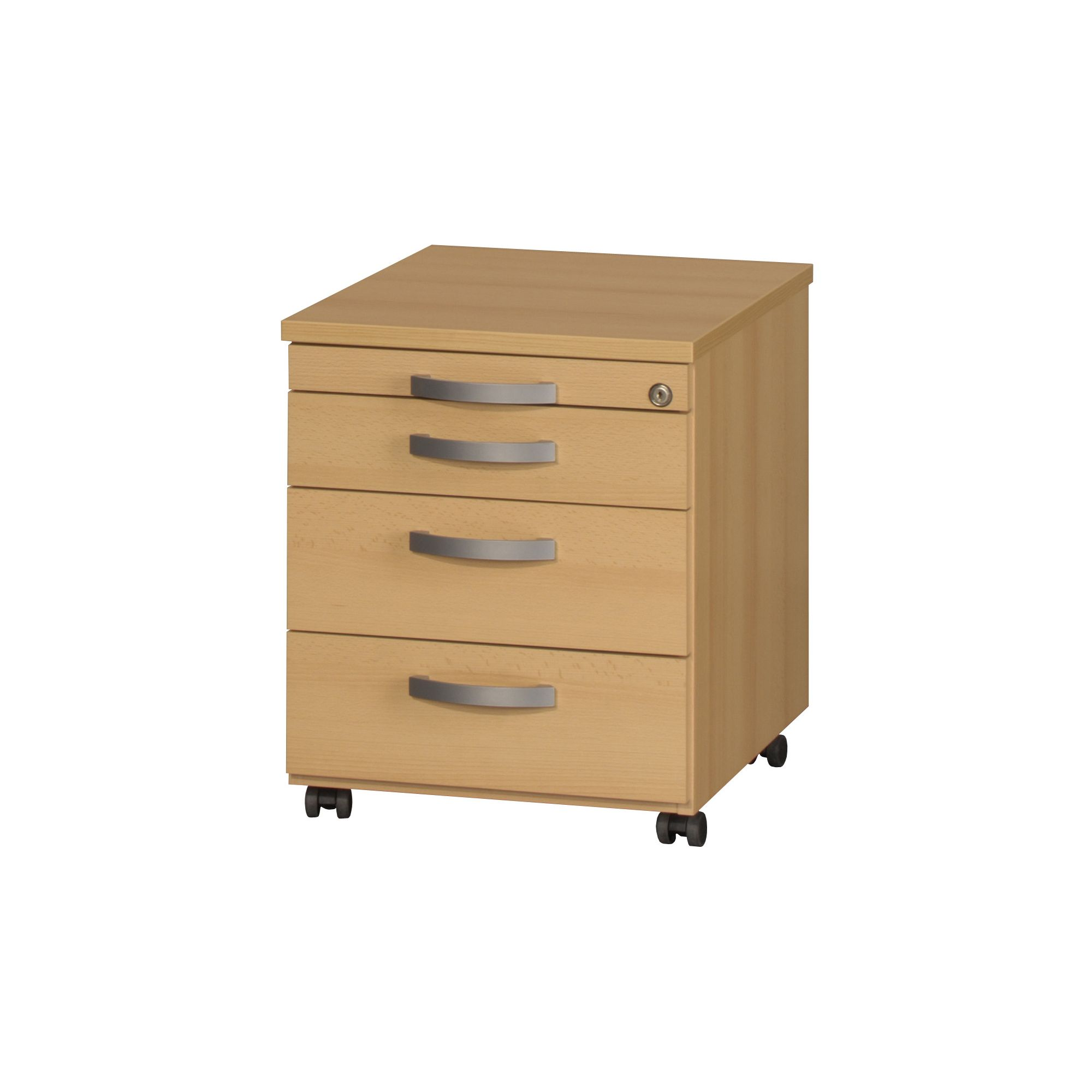 Bush Facts 4 Drawers Mobile Pedestal in Traditional Beech at Tesco Direct