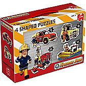 Fireman Sam 4 Shaped Puzzles - Jigsaw Puzzle - Jumbo