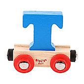 Bigjigs Rail Rail Name Letter T (Blue)