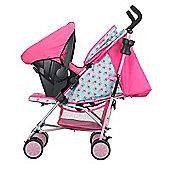 Obaby Zeal Stroller Travel System Bundle - Cottage Rose