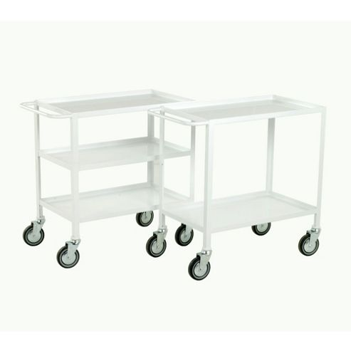 3 Tier tray trolley - Blue epoxy