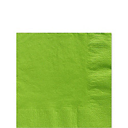 Lime Green Beverage Napkins - 3ply Paper