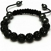 Black Crystal Unisex Fashion Bracelet SHAMBRAC-67