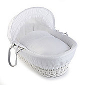 Clair de Lune White Wicker Moses Basket (Vintage)