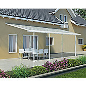 Palram Feria 3X7.3 white patio cover