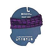 Patterned Head Tube Mens Womens Unisex Neck Warmer Scarf Balaclava Head Tube - Purple
