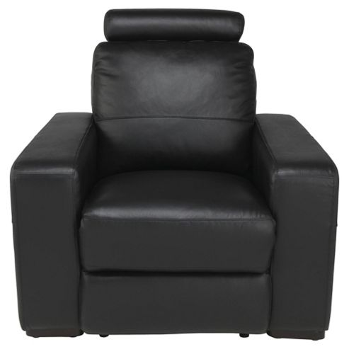 Barcelona Leather Recliner Armchair Black