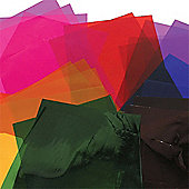 Coloured Cellophane Craft Sheets (Pack of 36)