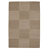 Husain International Checks Beige Tufted Rug - 180cm x 120cm (5 ft 11 in x 3 ft 11 in)