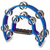 Stagg Blue Cutaway Plastic Tambourine