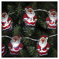 10 LED Santa Christmas Lights