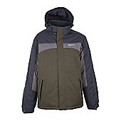 Schiller Mens Snowboarding Skiing Multipocket Waterproof Insulated Ski Jacket - Green
