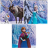 Disney Frozen Large Set of 3 Canvas Arts
