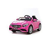 12V Mercedes S63 AMG Ride On Car Pink