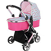 OBaby Chase 2in1 Stroller & Carrycot (Cottage Rose)