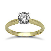 Jewelco London 18 Carat Yellow Gold 75pts Solitaire Diamond Ring