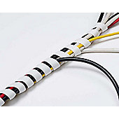 D-Line CTW2.5 White Spiral Cable Wrap