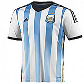 2014-15 Argentina Home World Cup Football Shirt (Kids) - White