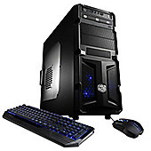 Cyberpower Gaming Armada Elite Desktop, AMD FX 4300 Quad-core Processor (3.8GHz), 8GB, 2TB HDD - Black/Blue