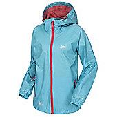 Trespass Ladies Qikpac Waterproof Packaway Jacket - Aqua